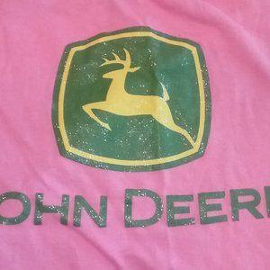 John Deere Shirts & Tops - John Deere Pink/Green Glitter  T-Shirt